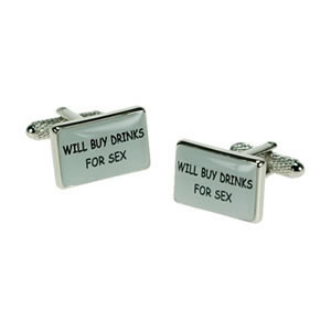 Will Buy Drinks For Sex Logo Cufflinks
