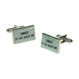Smile If You Want Me Logo Cufflinks