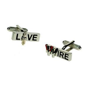 Silver Live Wire Cufflinks