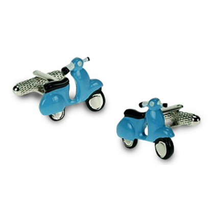 Blue Vespa Scooter Cufflinks