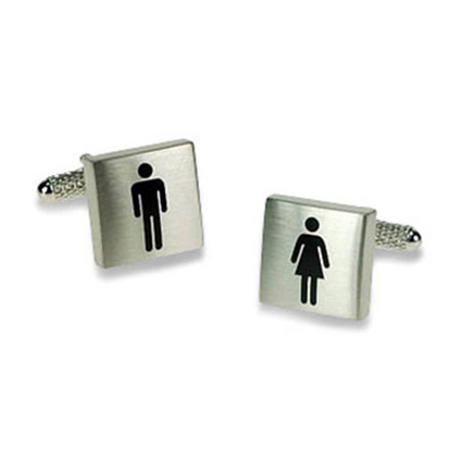Silver Male And Female Sign Cufflinks