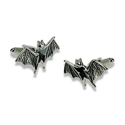 Silver Flying Bat Cufflinks