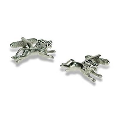Silver Lion Cufflinks