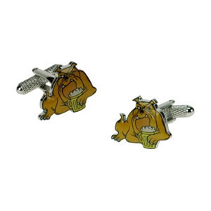 Coloured Drunk Bulldog Cufflinks