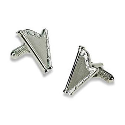 Silver Harp Cufflinks