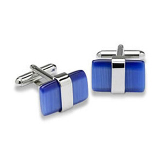 Blue Wraparound Catseye Cufflinks