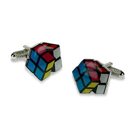 Multi Coloured Cube Cufflinks