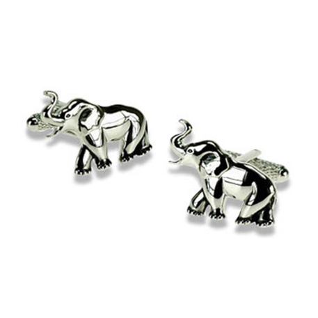 Simple Elephant Cufflinks