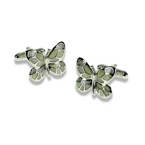 Multi Coloured Butterfly Cufflinks
