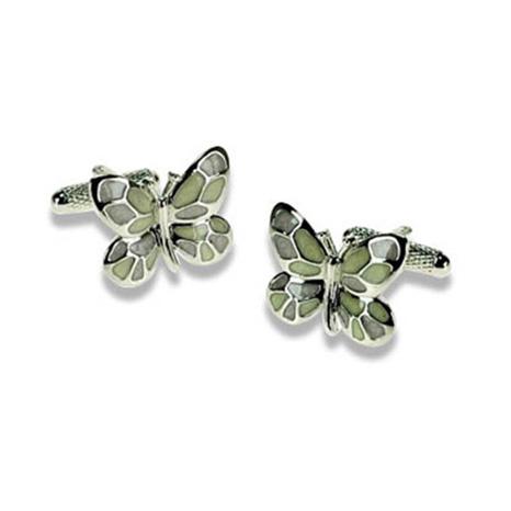 Multi Coloured Butterfly Cufflinks