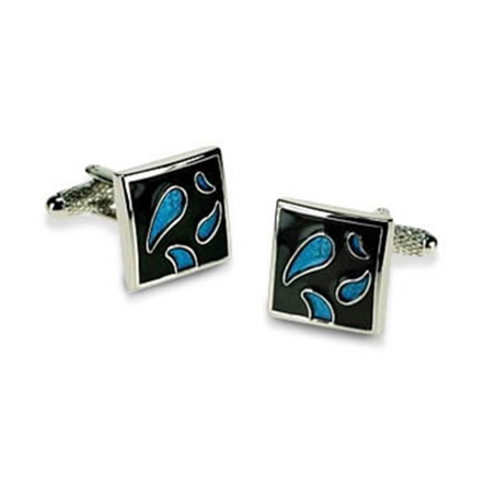Black And Blue Trans Cufflinks