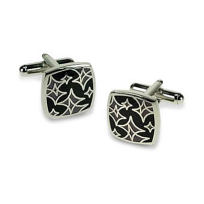 Black And Purple Twinkle Cufflinks
