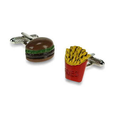 Burger N Fries Cufflinks