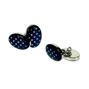 Blue Oval Style Cufflinks