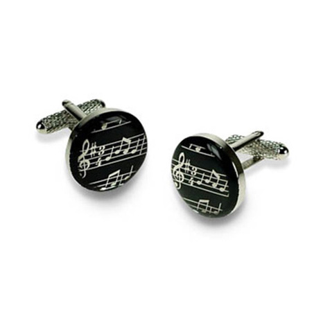 Circular Musical Notes Cufflinks