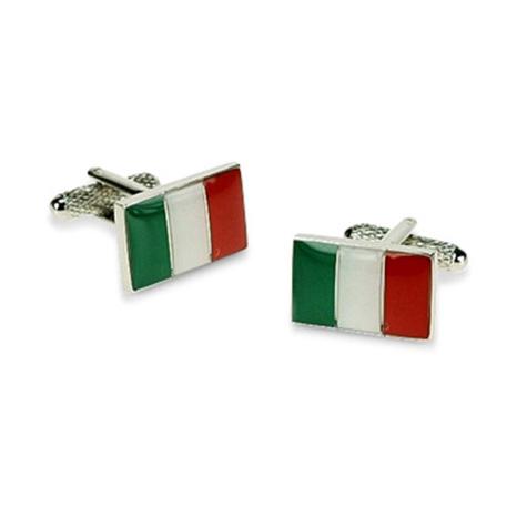 Italian Flag Rectangular Cufflinks