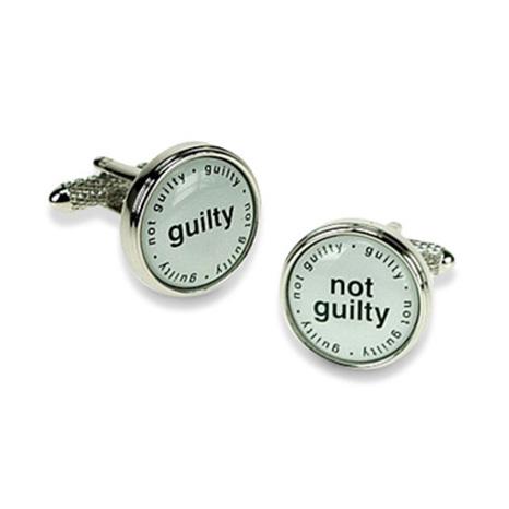 Guilty Not Guilty Cufflinks