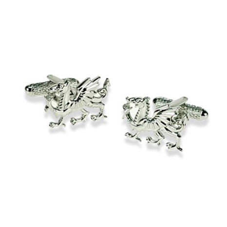 Welsh Dragon Silver Look Cufflinks