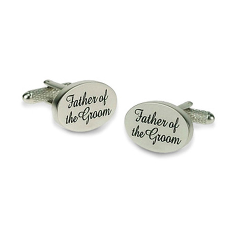 Father Of The Groom Elegant Cufflinks