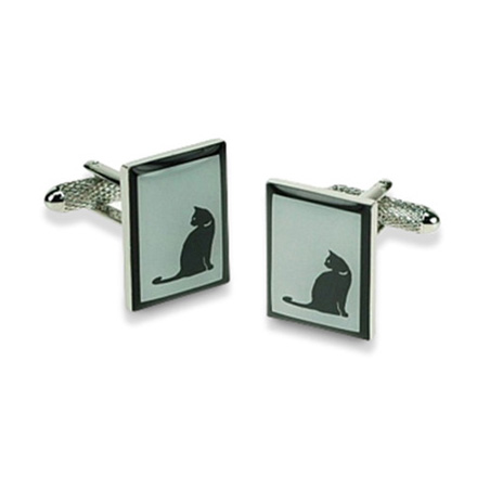 Square Border Cat Cufflinks