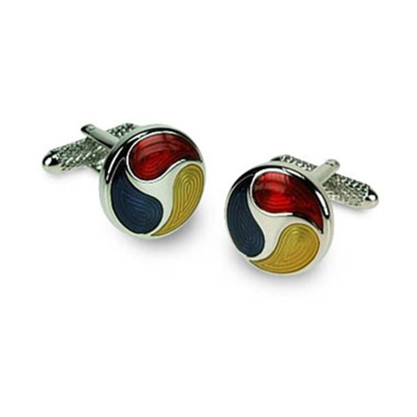 Blue Yellow And Red Multi Cufflinks