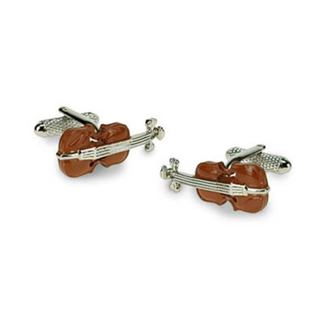 Violin Colour Detailed Cufflinks