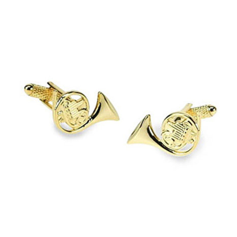 French Horn Gold Look Cufflinks