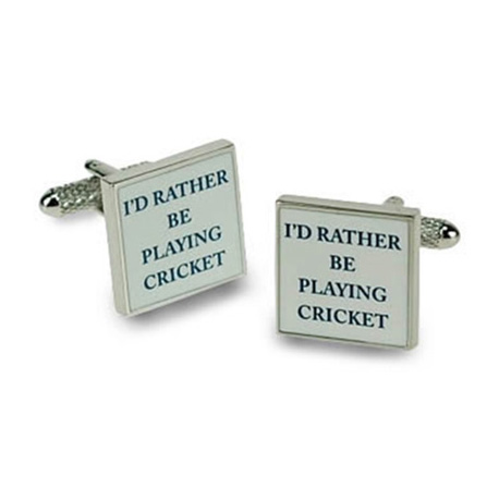 I'd Rather Be Playing Cricket Cufflinks