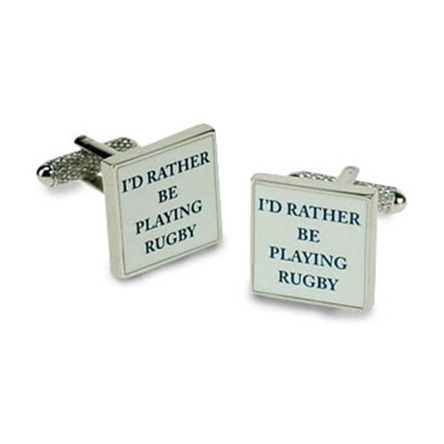 I'd Rather Be Playing Rugby Cufflinks