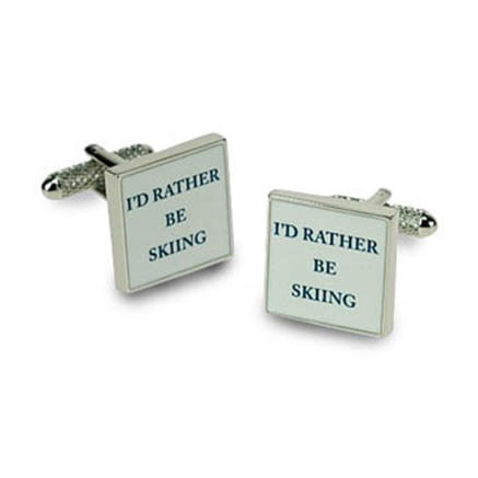 I'd Rather Be Skiing Cufflinks