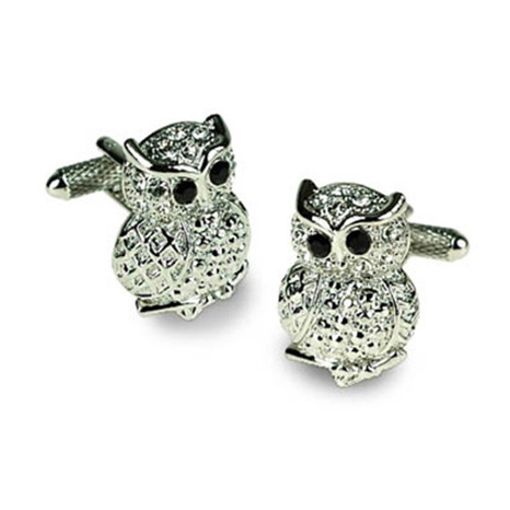 Owl With Jet Eyes Cufflinks