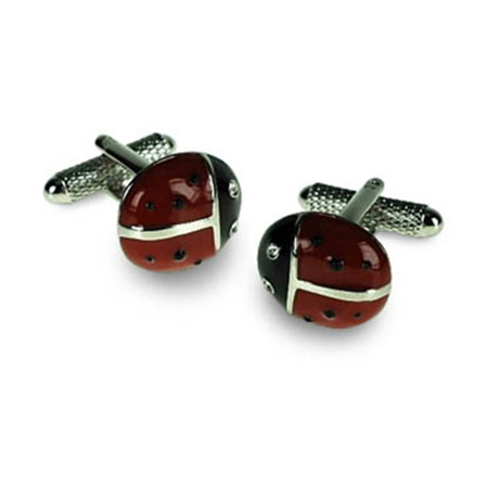 Ladybird Shaped Cufflinks