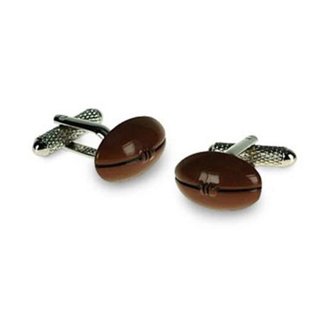 Brown Rugby Ball Cufflinks
