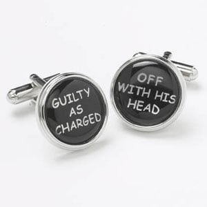 Guilty As Charged Cufflinks