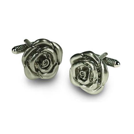 Silver Flower Cufflinks