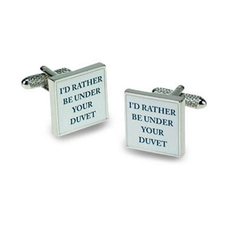 I'd Rather Be Under Your Duvet Cufflinks