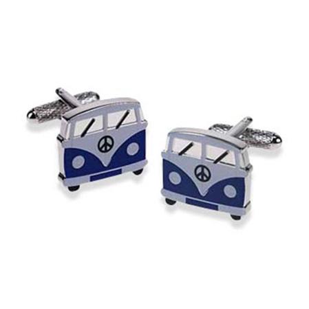 Camper Van Blue Style Cufflinks