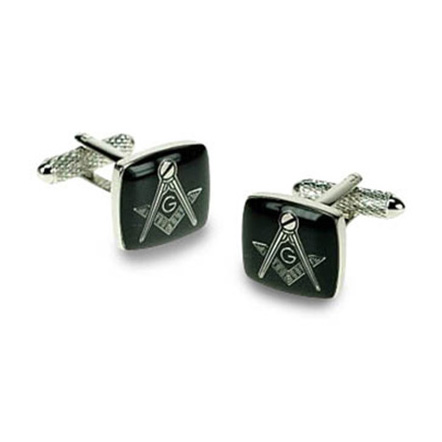 Masonic G Black Cufflinks