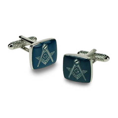 Masonic G Blue Cufflinks