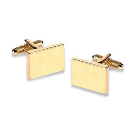 Gold Rectangle Cufflinks