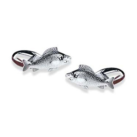 Fish Chain Link S Plated Cufflinks