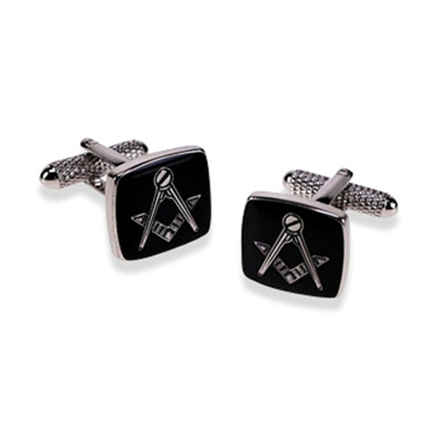 Masonic Black Cufflinks