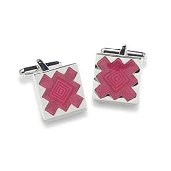 Square Hot Pink Cufflinks