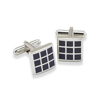 Navy Small Square Cufflinks
