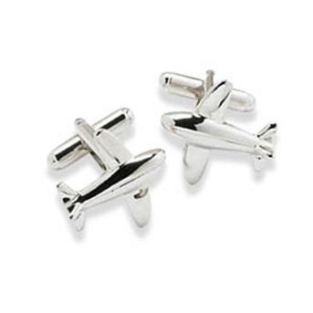 Aeroplane Silver Cufflinks