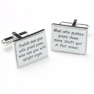 Foolish Man Give Cufflinks