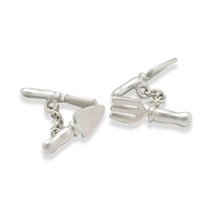 Fork And Trowel Style Cufflinks
