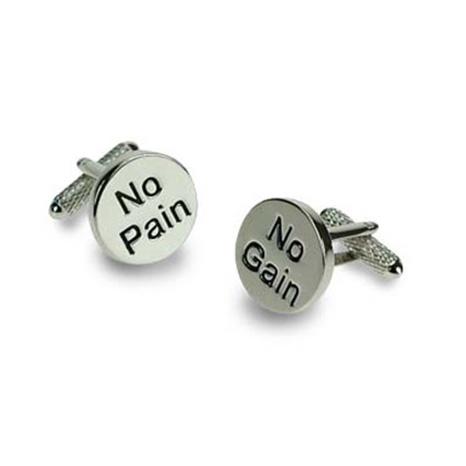 No Pain And No Gain Cufflinks