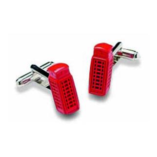 UK Red Phone Box Cufflinks