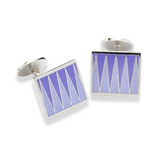 Blue And Purple Zig Zag Cufflinks